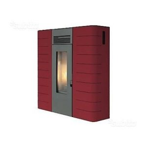 Stufa pellet King Idro Slim 16 Bordeaux